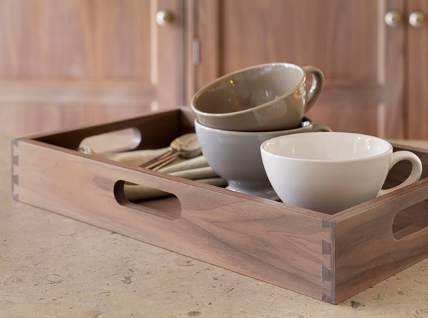 Handcrafted wooden trays