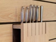 Teddy Edwards by Kitchen Architecture Contemporary shaker style kitchen knife block
